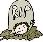 1190868-Cartoon-Of-A-Body-Coming-Out-Of-A-Grave-Royalty-Free-Vector-Illustration
